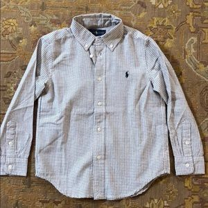 Ralph Lauren  checkered Button down shirt